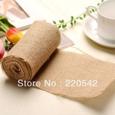 1 Roll Natural Burlap Ribbon Rustic Wedding Decoration Gift Wrapping 12cm Wide SFG01