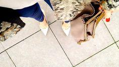 Streetsexystyle - jeansandhighheels - snakepattern- stellamccartney bag