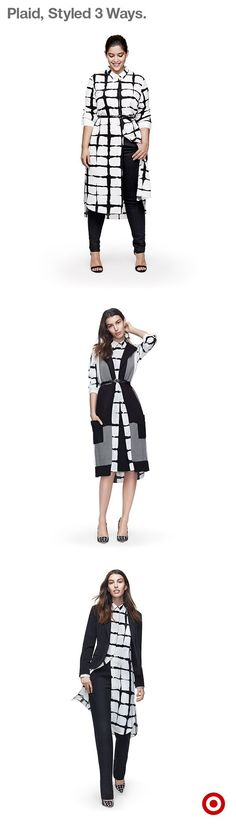 With fall in full swing, it's time to layer—even with dresses. And the modern print and flowing style of this Adam Lippes for Target will elevate any look: just layer it over pants and belt it at the waist, pair it with a favorite suit for the work week, or mix prints by topping it with knit plaid vest. Ready to layer? The entire collection is available now.