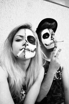 ugar Skull, Couple Halloween Costumes