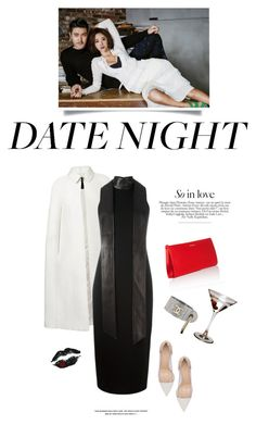 """""""Kiss me"""" by iriadna ❤ liked on Polyvore featuring Burberry, Tom Ford, Gianvito Rossi, ESCADA, DateNight, blackandwhite, LBD and partystyle"""