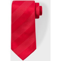 Men's Red Textured Stripe Silk Tie ($75) ❤ liked on Polyvore featuring men's fashion, men's accessories, men's neckwear, ties, red, mens striped ties, mens ties, mens silk ties and mens red tie