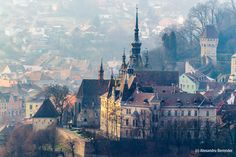 socialfoto: Sighisoara by alexberendei Visit Romania, Famous Castles, All Over The World, Places To Go, Scenery, Wildlife, City, Nature, Pictures
