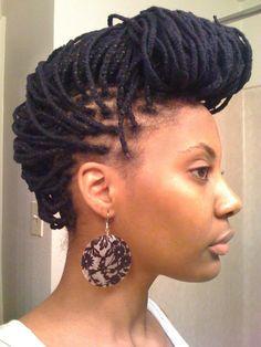Yarn braid updo