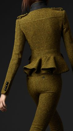 Burberry Prorsum wool tweed peplum hunting jacket 2