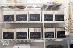 Pantry Baskets With Labels Pantry Organization Pantry Shelving Systems Lowes Pan. Pantry Baskets W Pantry Shelving, Kitchen Organization Pantry, Pantry Storage, Storage Bins, Kitchen Pantry, Pantry Ideas, Storage Ideas, Organized Kitchen, Kitchen Storage