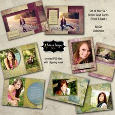 make in My Digital Studio by Stampin' Up! Graduation Announcement Cards, Graduation Announcements, Senior Photography, Photography Ideas, Card Templates, Stampin Up, Graduation Ideas, Photoshop, Teen