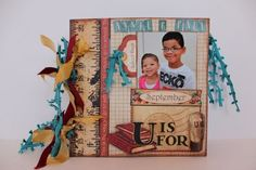 Beautiful mini album using An ABC Primer made by @Pam Bray. Gorgeous! #graphic45