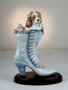 Lladro Figurines | Lladro Figurine #6774: A Well Heeled Puppy :: Figures & Sculptures ...