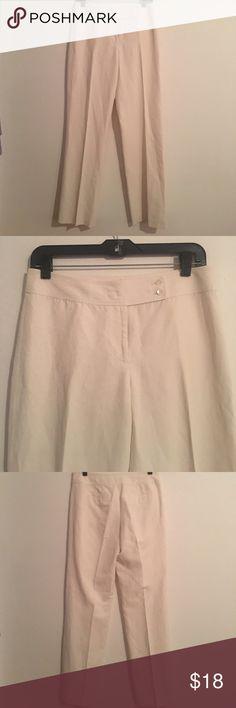 Ann Taylor Straight Leg Cream Linen Pants NWT Ann Taylor Straight Leg Cream  Linen Pants NWT Size 2 Ann Taylor Pants