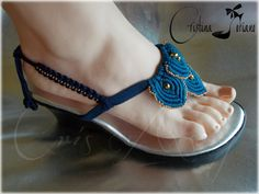 Sandalias de macramé