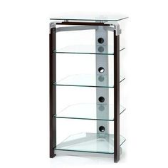 S-Hold 14 Four Shelf Audio Rack by New Spec Inc. $382.99. 110006 Features: -Audio rack.-Powder coating on metal parts.-Has wiring management. Includes: -Includes 4 shelves. Construction: -Tempered glass construction. Assembly Instructions: -Assembly required. Warranty: -Manufacturer provides 3 months warranty.