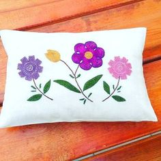lacy decorative pillows embroidered by VERDAwonderland on Etsy
