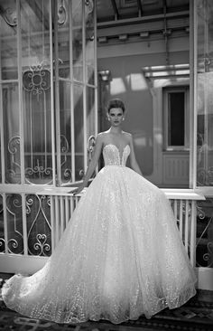 Just a pretty bride: Berta Bridal 2016 | Sleeveless sequined bridal dress
