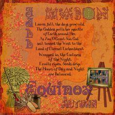 Mabon Prayer Mabon, Samhain, Wiccan Sabbats, Paganism, Halloween Moon, Autumnal Equinox, The Embrace, Day For Night, Book Of Shadows