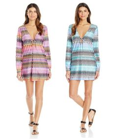 $14.25+ ($85)Kenneth Cole New York連衣裙Linear Lines Tunic Coverup