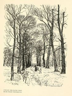 """""""One of the Paths that have Made Themselves"""" illustrated by Arthur Rackham"""
