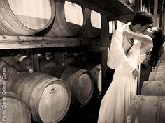Bargetto Winery in the hills above Santa Cruz, pretty patio and sexy barrel room, makes interesting wedding venue.