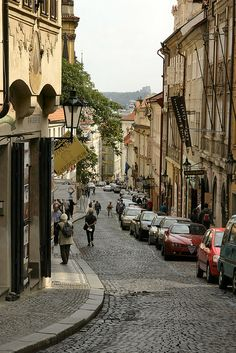 Nerudova Street, Prague, Czech Republic