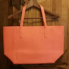 Coral Tote Bag This tote bag is brand new without tags!!! Perfect size for the beach!! Bags Totes
