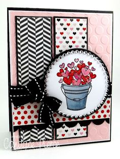Very pretty!  I love the combination of patterns & the contrast of the black mixed in.