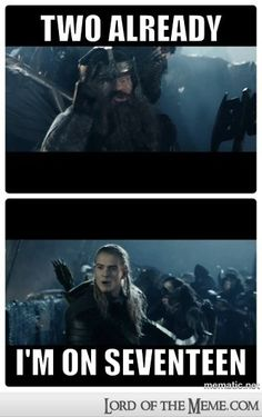 If you ever need to find Legolas in a battle, this is how.