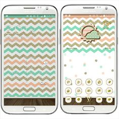 """Weekend screenies: #freebie pretty teal and salmon #walls by @debbiehan_pink #BondGirl #golauncher #theme by @mommylhey #MommyLhey and #beweather &…"""