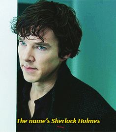 The name's Sherlock Holmes (gif 1 of 2) ~ Sherlock ~ Benedict Cumberbatch