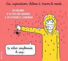 Top 10 des superstitions les plus étranges à travers le monde illustrées, les gens sont fous | Topito
