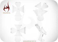 Suporte de Ipad feito de acrílico cristal.  Ipad support done in crystal acrylic.