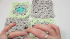 "This is ""Connecting Granny Squares with the Whip Stitch"" by Craftyminx on Vimeo, the home for high quality videos and the people who love them. Crochet Quilt, Crochet Blocks, Granny Square Crochet Pattern, Crochet Squares, Crochet Granny, Crochet Motif, Crochet Flowers, Knit Crochet, Crochet Patterns"
