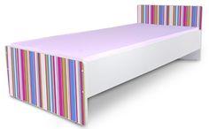 Detská posteľ bez bočníc Prúžky ružové