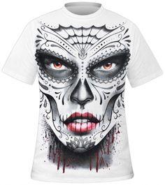 T-Shirt Mec Spiral DARK WEAR - Death Mask www.rockagogo.com