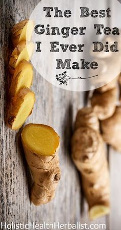 The Best Ginger Tea I Ever Did Make - This ginger tea is so delicious and uplifting when you're feeling sick or just need a warming boost!