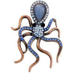 Octopus brooch.