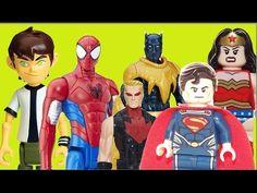 Ben 10 Homem Aranha Pantera Negra Gavião Arqueiro Super Homem Mulher mar...