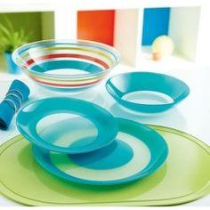 Vajilla fairy navy de luminarc fabricada en vidrio opal for Marcas de vajillas
