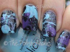 The PolishAholic: Couple more splatter mani's!