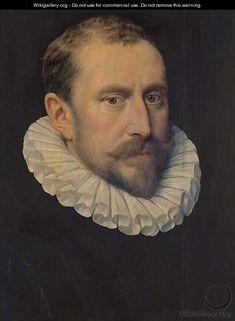 Portrait of a bearded gentleman, bust-length, with a ruff collar    by Frans, the Elder Pourbus