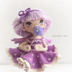 Иногда феи любят смотреть в даль и мечтать , такая задумчивая  . Ваша #olyaka_lab #кукольнаялабораторияоля_ка ----------------------------------- ✔️при маме / sold out малышка 15 см ростом Стоит самостоятельно Глазки вышиты ------------------------------------ #instaartis#dollartist#вязанаякукланазаказ#lovecrochet#weamiguru#dollmaker#ручнаяработа#принцесса#фея