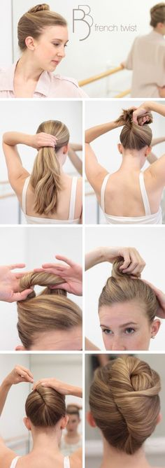 just a casual french twist for class Ann {The Gluten Free Scallywag} Ann {The Gluten Free Scallywag} Chiu ;) (bun hairstyles for dance) Braided Hairstyles Updo, Ballet Hairstyles, Easy Formal Hairstyles, Braided Updo, Easy Updo, Fashion Hairstyles, Modern Hairstyles, Beautiful Hairstyles, Popular Hairstyles