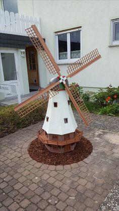Windmühle für den Hof Bauanleitung zum selber bauen