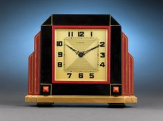 Art Deco Furniture Retro New Ideas Art Deco Decor, Art Deco Stil, Clock Decor, Art Deco Design, Decoration, Desk Clock, Old Clocks, Antique Clocks, Vintage Clocks