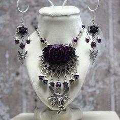 Victorian Purple Rose | Faery Rose - Purple and Antique Silver Fantasy Victorian Statement ...