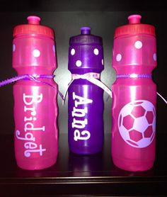 1 Vinyl Personalized Water Bottle with by TheStylishLetter on Etsy, $14.00