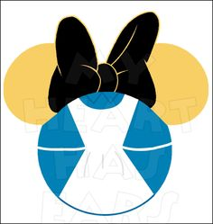 Minnie Mouse dressed as Alice in Wonderland INSTANT DOWNLOAD digital clip art DIY iron on transfer My Heart Has Ears