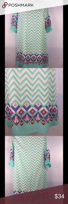 Selling this Everly Small Chervon lined poly new dress on Poshmark! My username is: kennjenn2010. #shopmycloset #poshmark #fashion #shopping #style #forsale #Everly #Dresses & Skirts