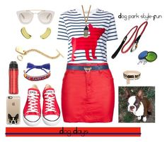"""Dog days...fun at the dog park. Style to set it off"" by momma2theking ❤ liked on Polyvore featuring Prada, Être Cécile, Topshop, Converse, Shourouk, Trina Turk, Casetify, Ruffwear and Under Armour"