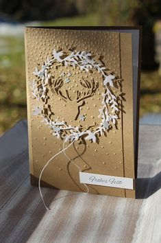 Polly kreativ: Der Hirsch!