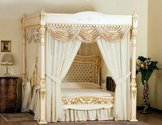 Worlds most expensive bed.   I want!!!! It is hand-made of 107 kg of solid 24 carat gold.